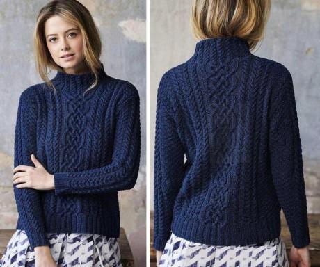 Женский свитер  «MULLION COVE»  спицами