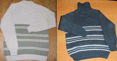 Детский бесшовный пуловер спицами, мастер - класс!
