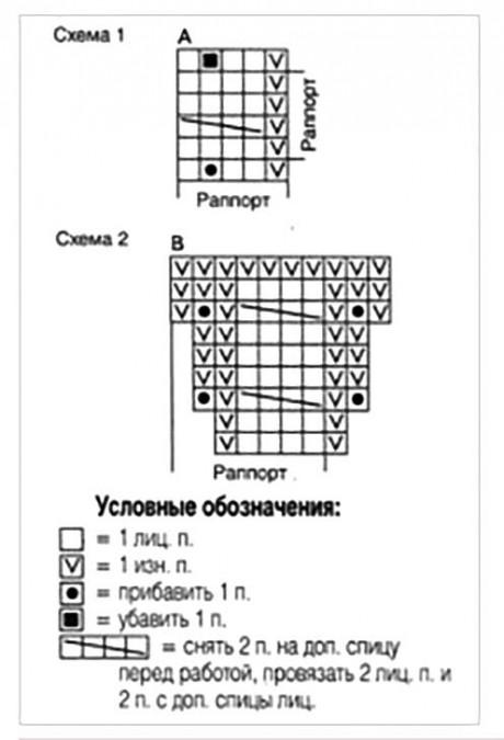Схема шорт спицами
