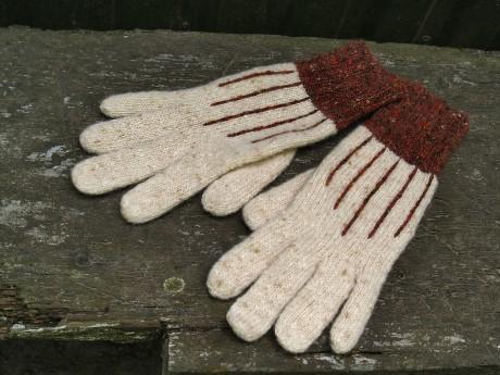 Твидовые перчатки спицами. Вязание спицами.