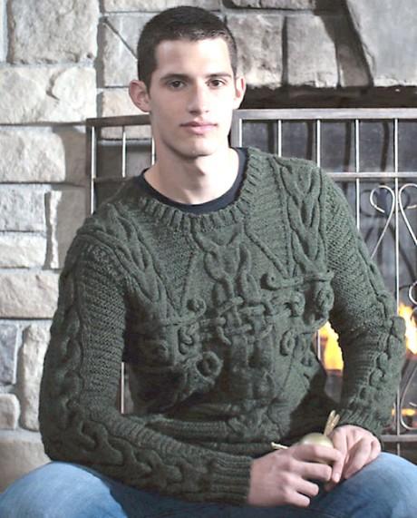 Как связать мужской пуловер спицами Колдун