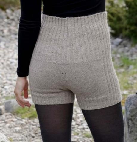 Теплые шорты - рейтузы спицами