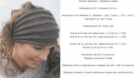 Зимняя повязка на голову