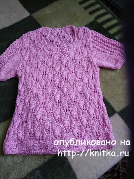 Летняя ажурная кофточка от Лидии Климович