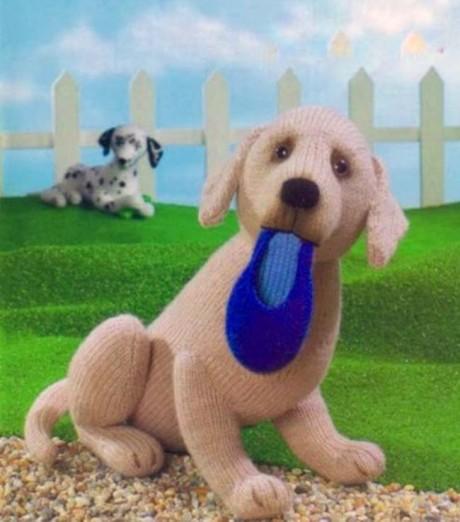 Как связать спицами собаку лабрадор