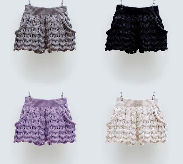 шорты спицами подборка из 22 моделей с описанием и схемами вязания