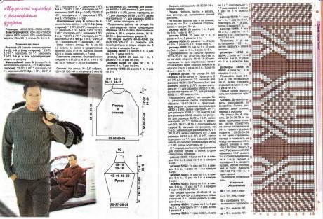 Схемы и описание свитера спицами