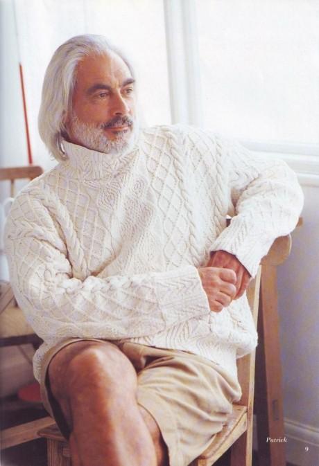Как связать спицами мужской свитер Патрик