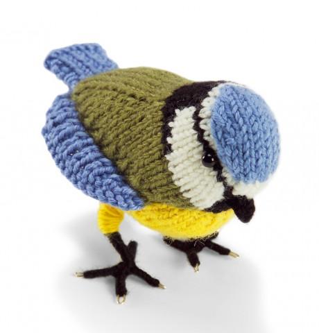 игрушка птичка - синичка спицами
