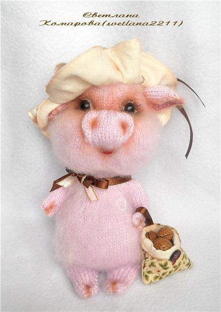 Мастер -класс по вязанию свинки от Светланы Комаровой