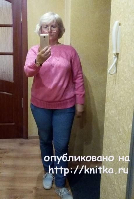 Женский пуловер спицами. Работа Татьяны Ивановны вязание и схемы вязания