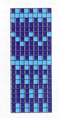 Тапочки на двух спицах, схема вязания