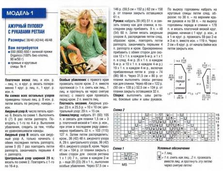 описание и схемы вязания женского джемпера