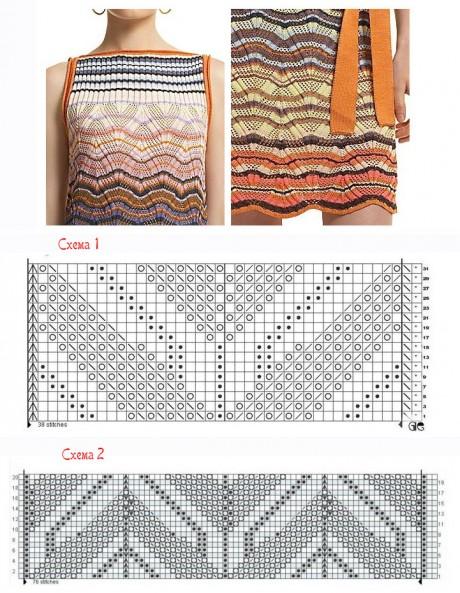 Схемы вязания разных узоров миссони спицами