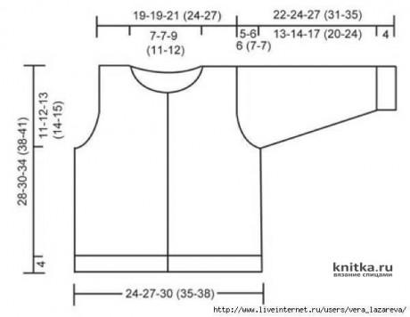 Детская кофточка спицами. Работа Ирины Стильник вязание и схемы вязания