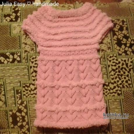 Кардиган для девочки София. Работа Julia Easy вязание и схемы вязания