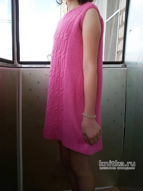 Платье для девочки спицами. Работа Татьяны Ивановны вязание и схемы вязания
