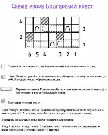 схема узора болгарский крест