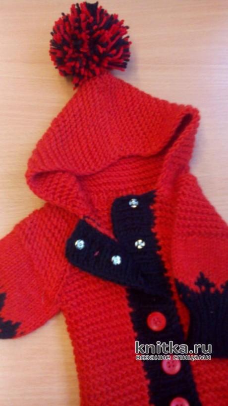Комбинезон для чихуахуа спицами. Работа Светланы Норман вязание и схемы вязания