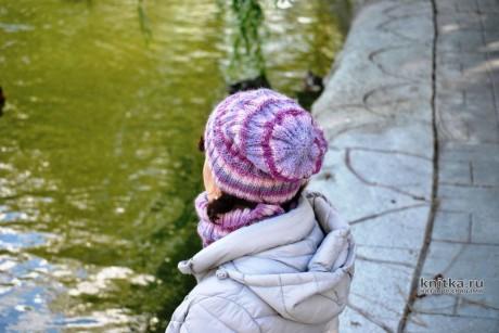 Комплект Первые морозы: шапка + снуд + митенки вязание и схемы вязания