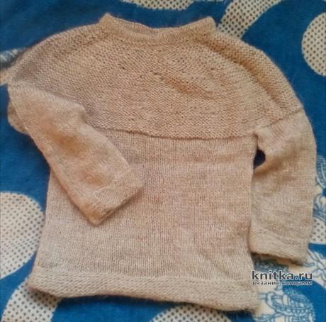 Мужской и детский свитер спицами. Работы Светланы Норман. Вязание спицами.