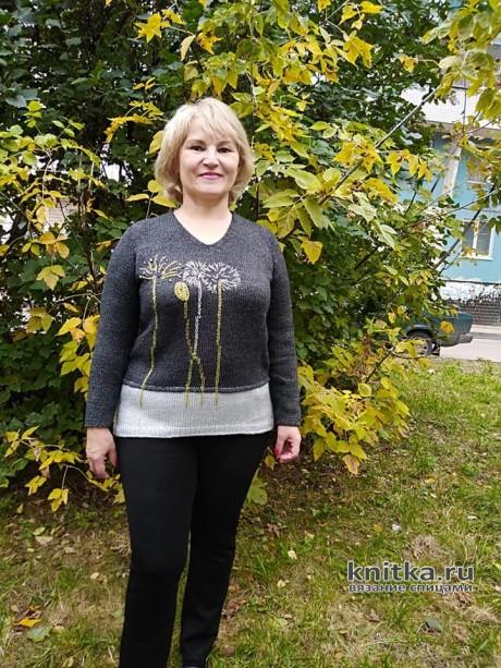 Переделка старого свитера. Работа Татьяны Ивановны. Вязание спицами. 0n