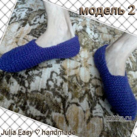 Следки спицами платочной вязкой. Работа Julia Easy вязание и схемы вязания