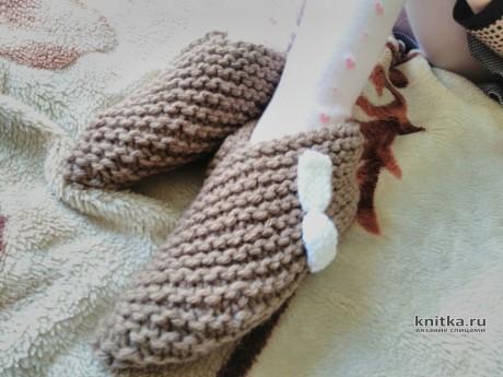 Следки спицами Проще простого. Работа Валерии вязание и схемы вязания