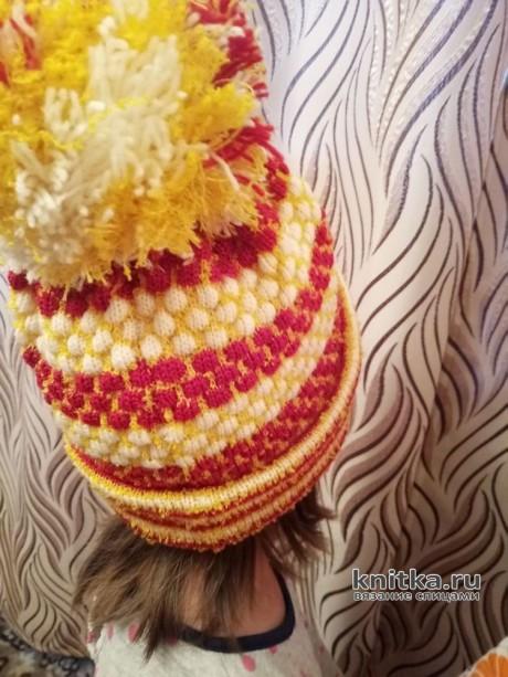 Вязаные шапочки для моих дочек. Работы Ивановой Людмилы вязание и схемы вязания