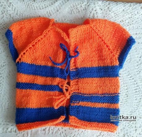 Яркий комплект для Арсения: жилет, носки и чепчик спицами вязание и схемы вязания