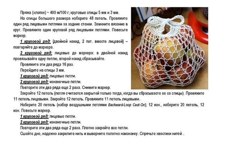171200ecb99b Авоська спицами, 9 моделей со схемами и подробным описанием, Вязание ...
