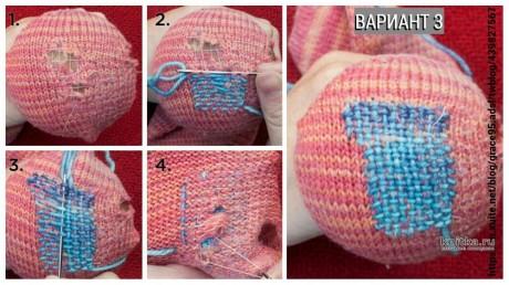 Как починить связанные спицами носки/следки. Работа Julia Easy вязание и схемы вязания