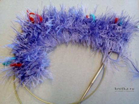 Комбинезон для чихуахуа из пряжи Травка. Работа Светланы Норман вязание и схемы вязания