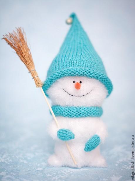 Снеговичок из травки, мастер - класс