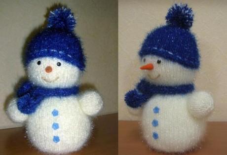 Мастер - класс снеговик спицами