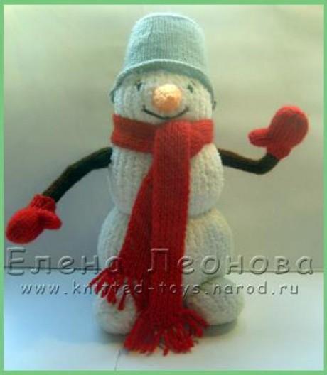 Снеговик спицами Проша