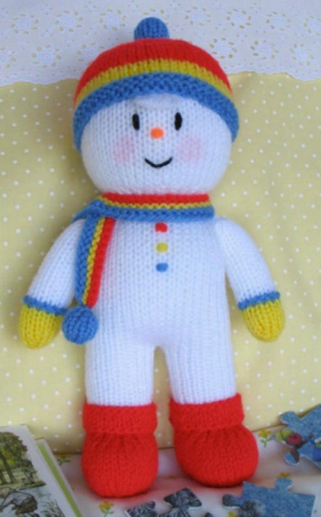 Снеговик Уильям спицами