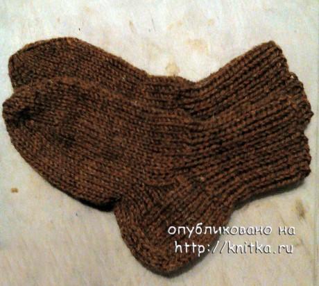Детские носки спицами. Работа Светланы Норман вязание и схемы вязания