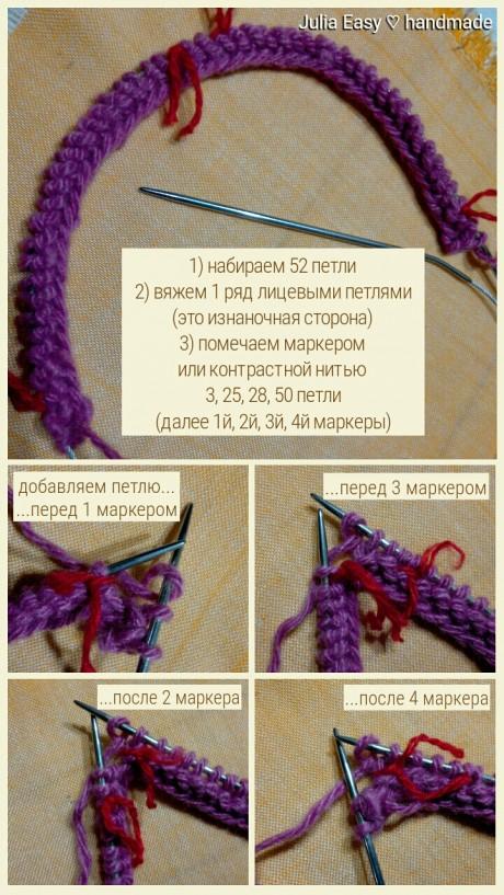 Женские следки спицами, мастер - класс от Julia Easy вязание и схемы вязания