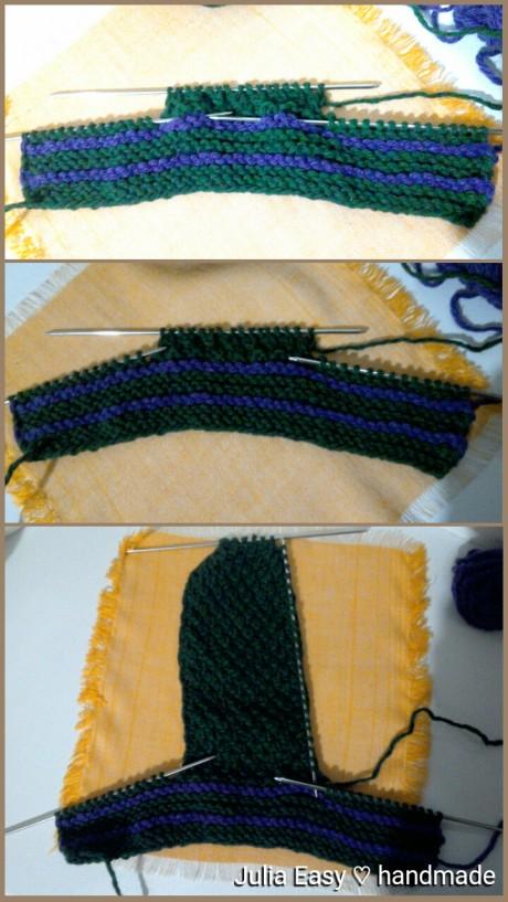 Мужские следки спицами, мастер - класс от Julia Easy вязание и схемы вязания