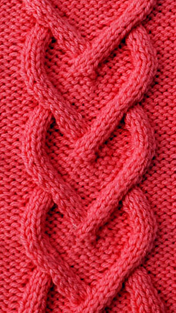 Схемы вязания красивых узоров сердечко спицами