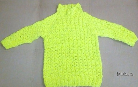 Детская кофта спицами. Работа Любови Волковой вязание и схемы вязания