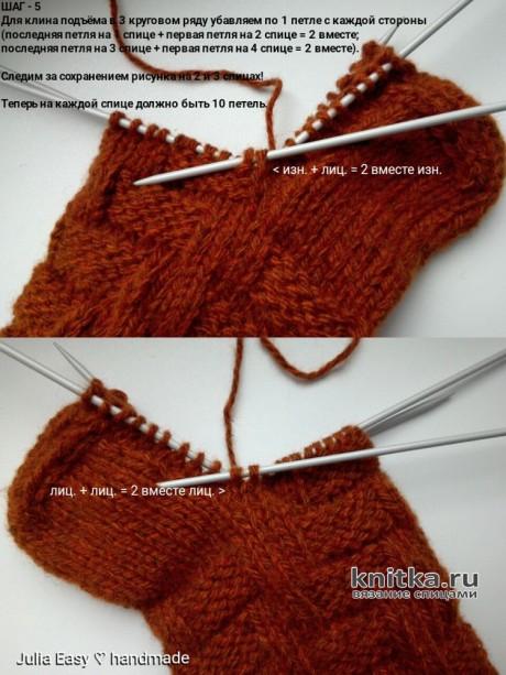 Носки мужские IMITATION BRAIDS спицами. Мастер - класс от Julia Easy вязание и схемы вязания
