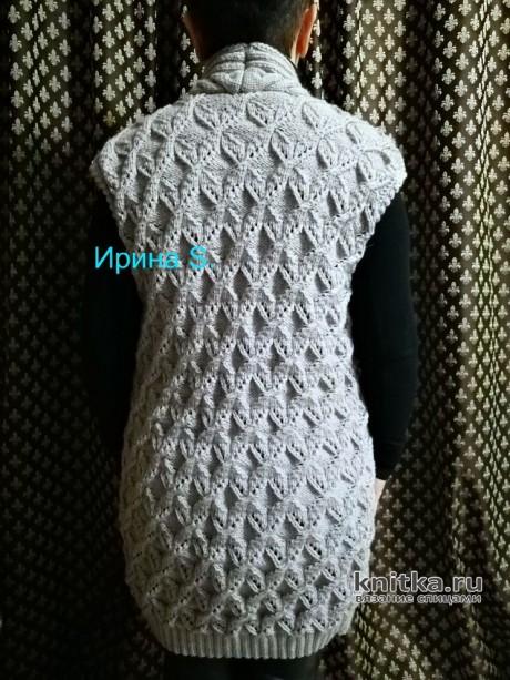 Женский длинный жилет. Работа Ирины Стильник вязание и схемы вязания