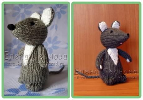 Мышка - норушка спицами от  Елены Леоновой