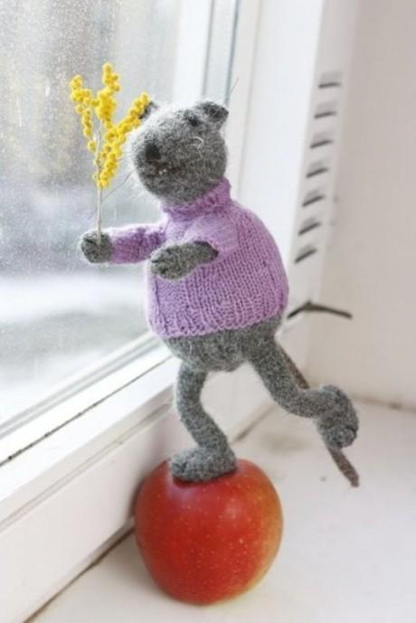 Мастер - класс по вязанию спицами мыши
