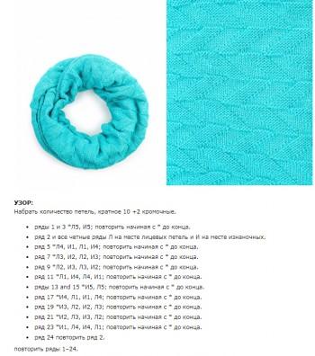 Схемы вязания узора для снуда спицами