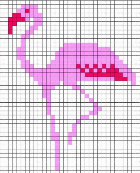 Счетные схемы для вязании узора фламинго спицами