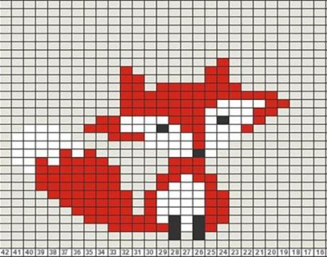 Схемы узоров лисица спицами