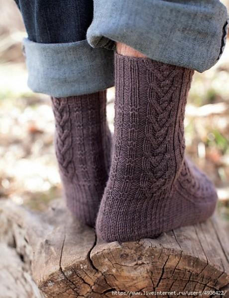 Мужские носки спицами WOODCUTTER'S socks by Rachel Coopey